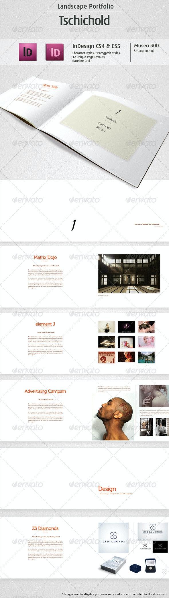 Tschichold Landscape Portfolio (12 Pages) - Corporate Brochures