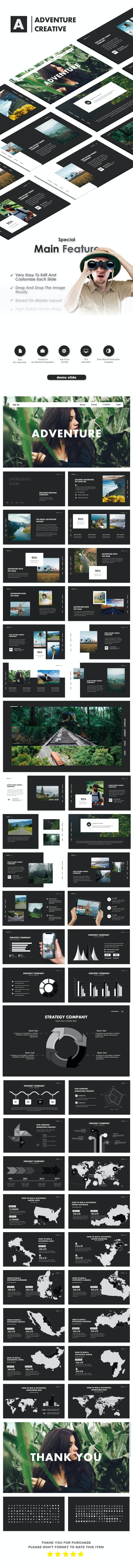 Adventure Creative PowerPoint Template - Creative PowerPoint Templates