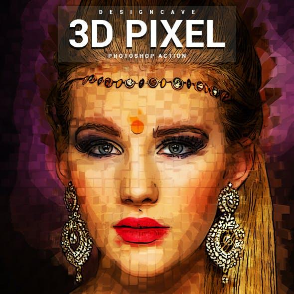 3D Pixel Photoshop Action
