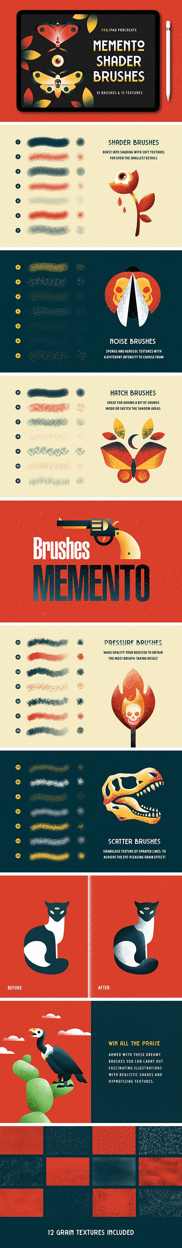 Shader Brushes for Procreate by pixelbuddha_graphic