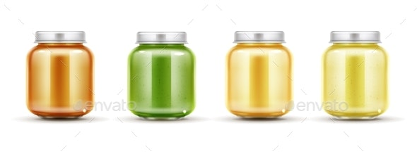 Baby Food Jars Set - Man-made Objects Objects