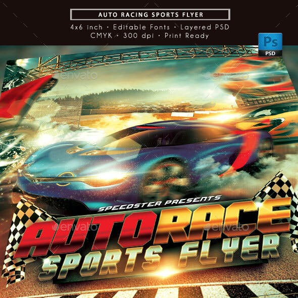 Auto Racing Sports Flyer