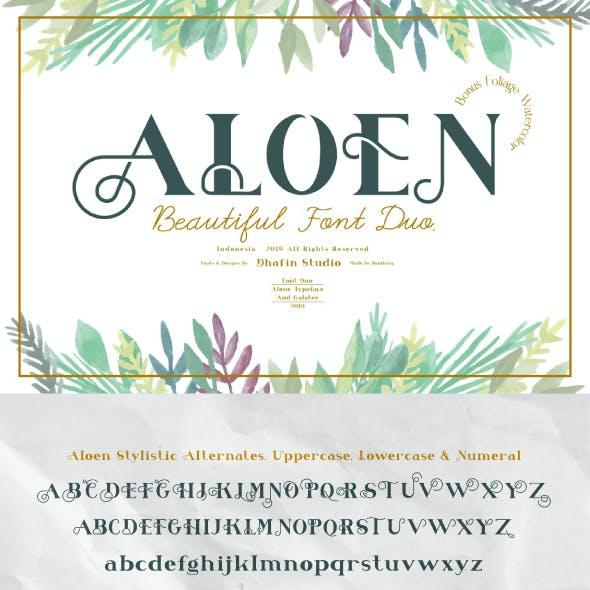 Aloen Beautiful Font Duo