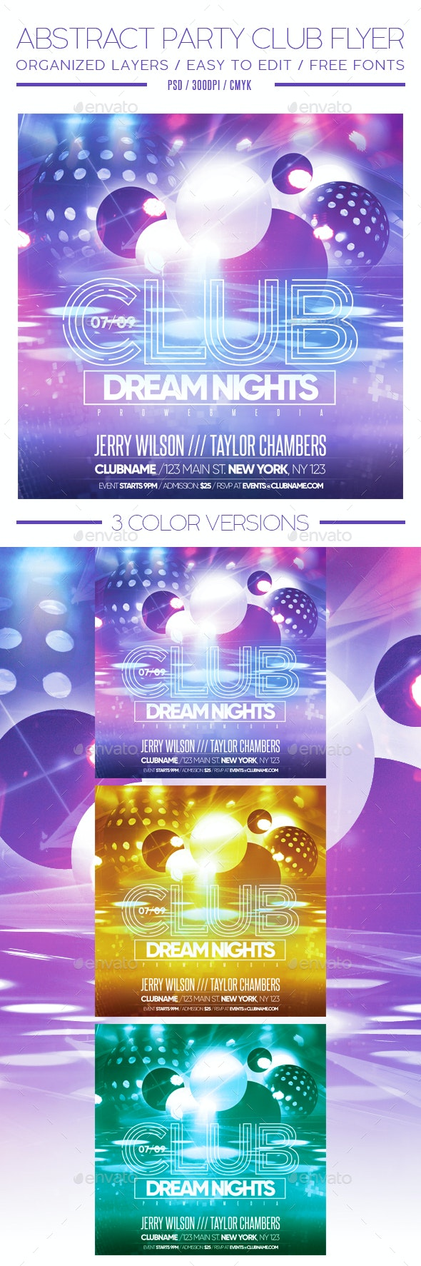 Abstract Party Club Flyer - Clubs & Parties Events
