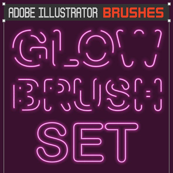 Vector Glowing Saber Brushes