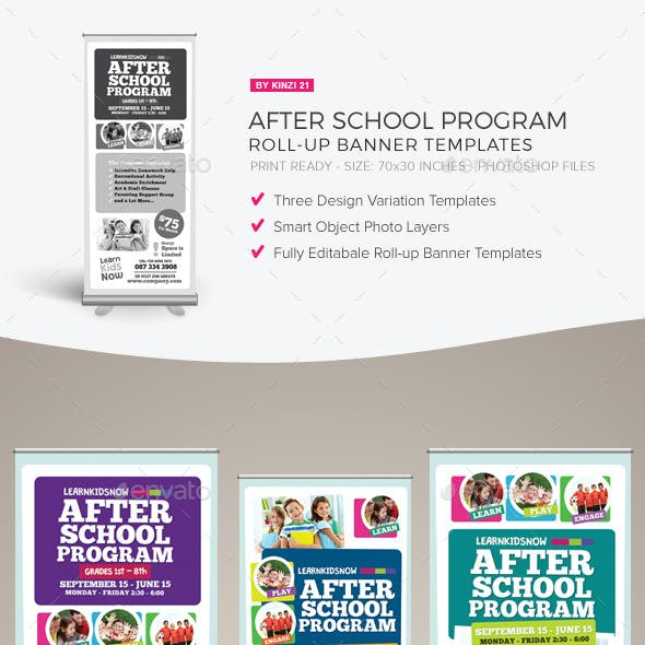 After School Program Roll-up Banner Templates