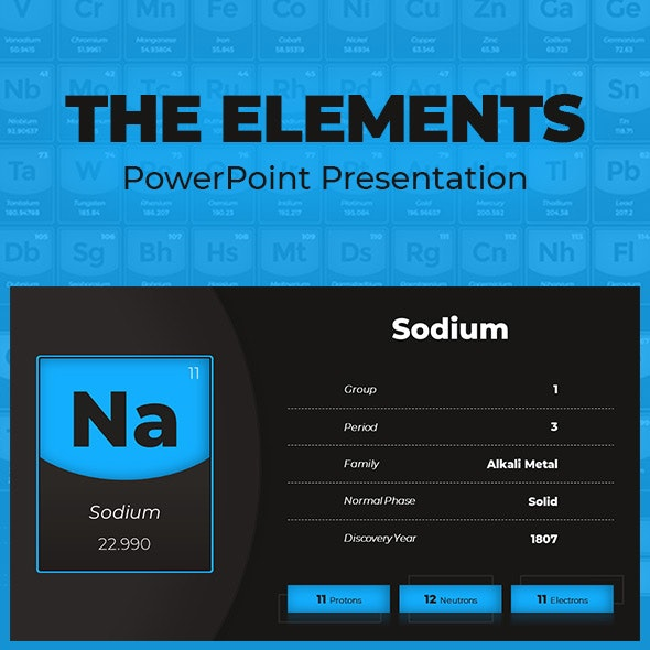 The Elements - Animated PowerPoint Presentation - Miscellaneous PowerPoint Templates