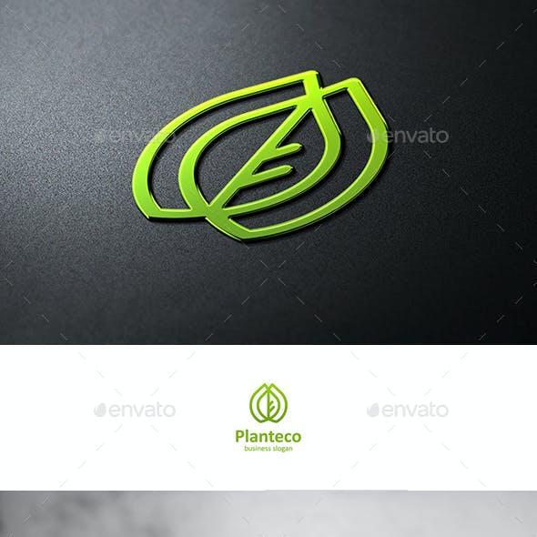 Eco Plant Logo with Leaf