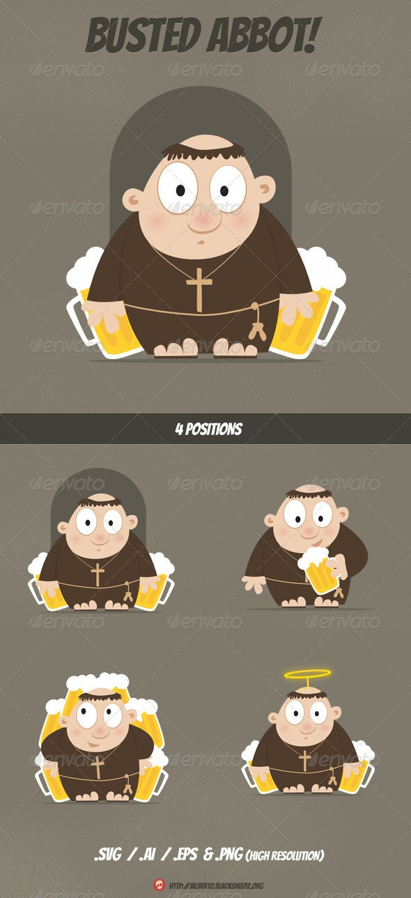 Busted Abbot - People Characters