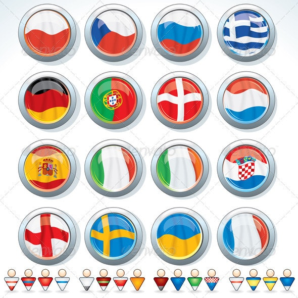 Groups of Euro 2012 - Sports/Activity Conceptual