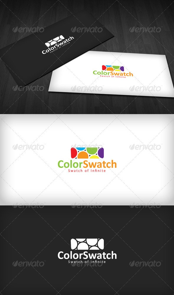 Color Swatch Logo - Vector Abstract
