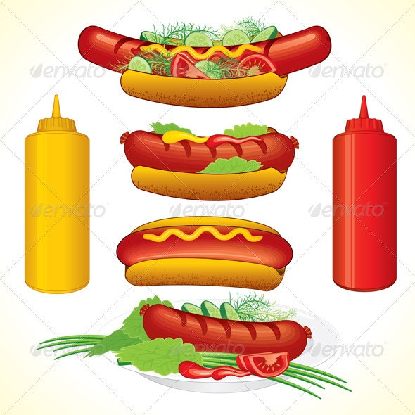 Hot Dogs - Food Objects