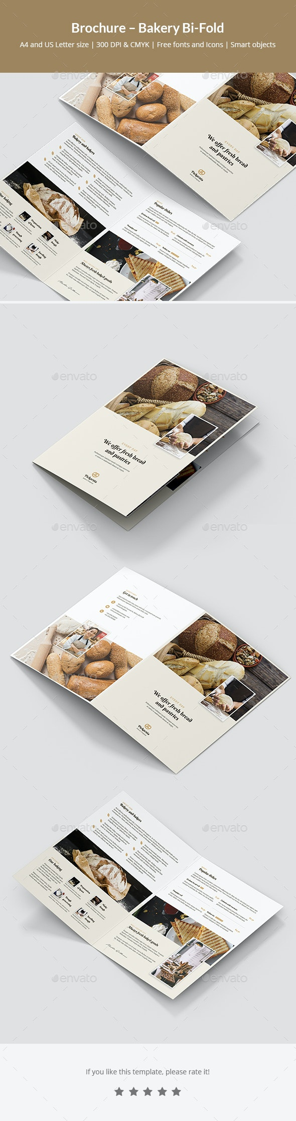 Brochure – Bakery Bi-Fold - Informational Brochures