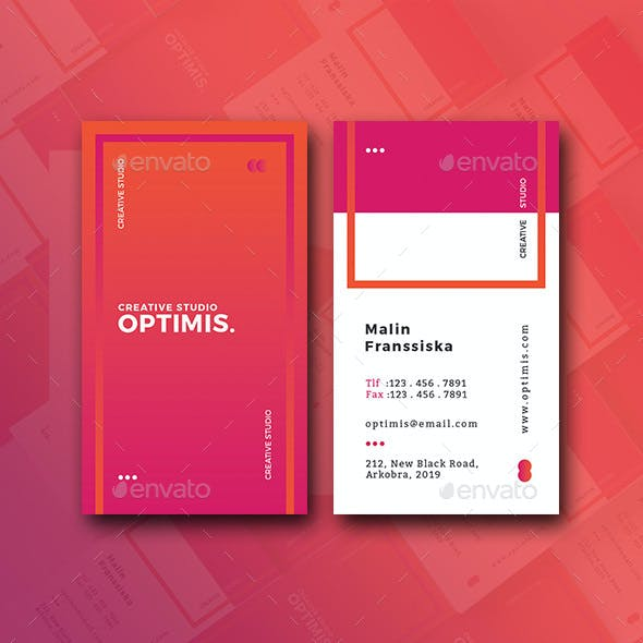 Vertical OS Creative Business Card