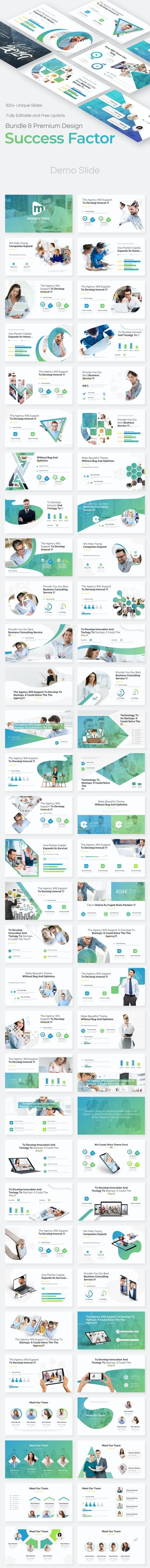 3 in 1 Success Factor Bundle Google Slide Pitch Deck Template - Google Slides Presentation Templates