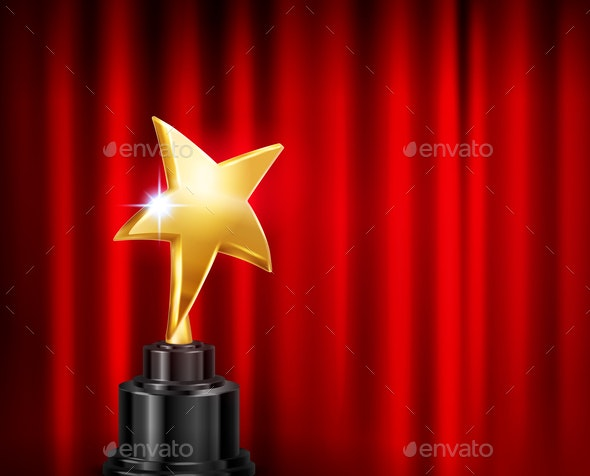 Golden Star Award Composition - Miscellaneous Vectors