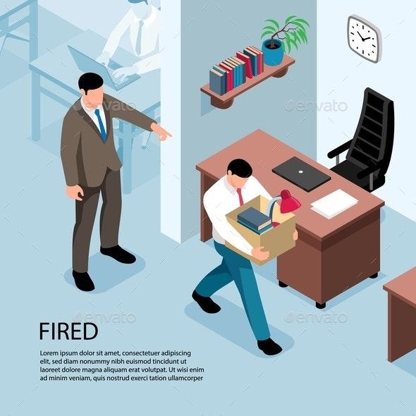Fired Isometric Illustration - Miscellaneous Vectors