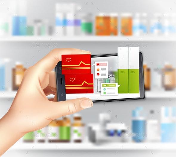 Smartphone Augmented Reality Composition - Health/Medicine Conceptual