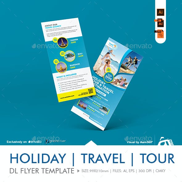 Travel Rack Card   DL Flyer Template