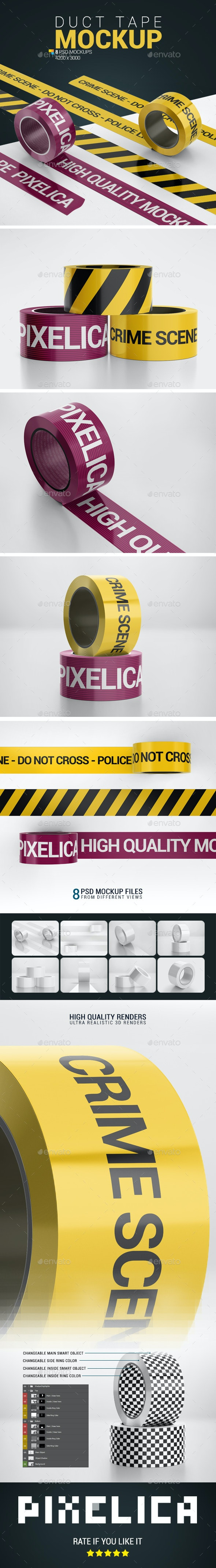 Duct Tape Mock-up - Product Mock-Ups Graphics