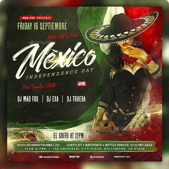 Mexico Independence Day Party Flyer