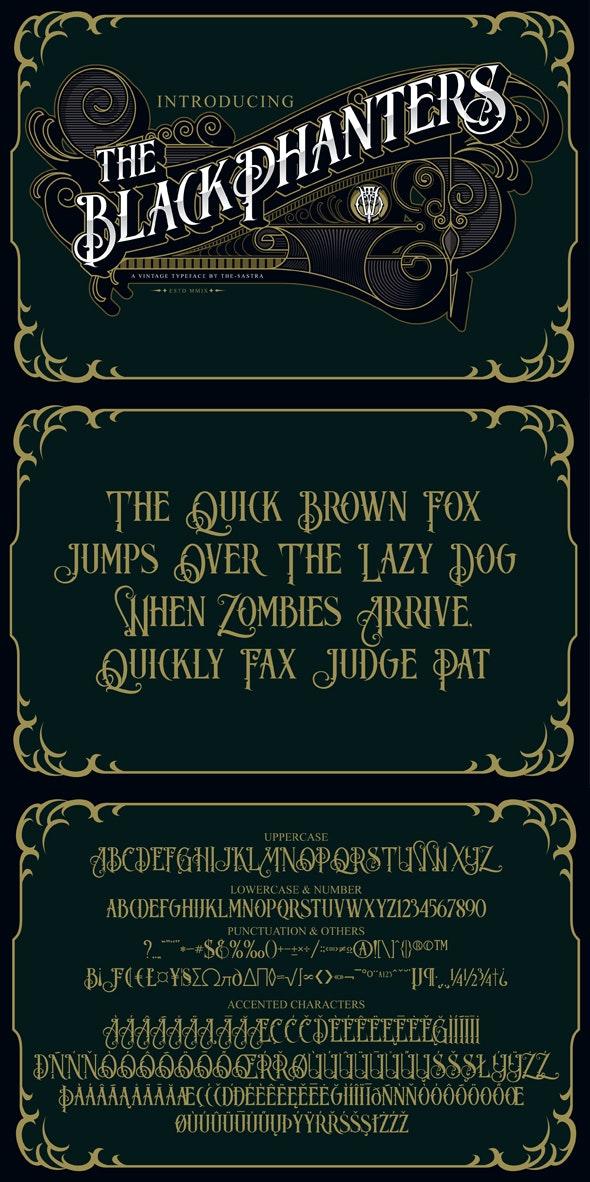 Blackphanters - Decorative Fonts