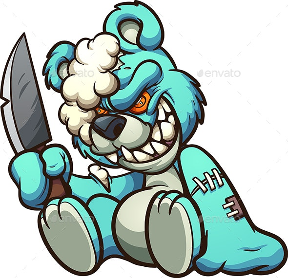 Evil Teddy Bear - Monsters Characters