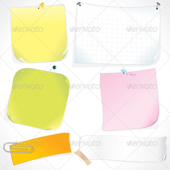 Note Papers - Backgrounds Decorative
