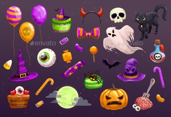Halloween Items Set - Halloween Seasons/Holidays