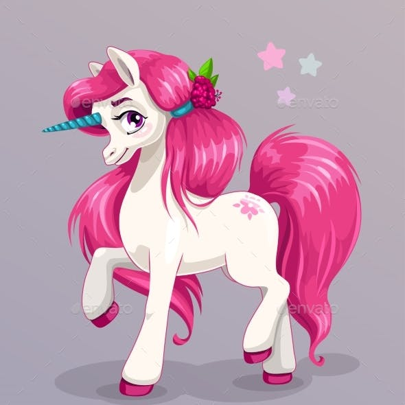 Unicorn Princess Vector Illustration