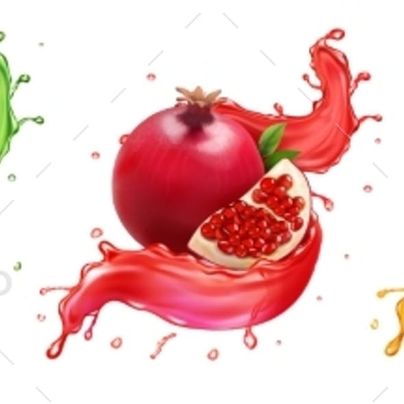 Pomegranate Apricot Aloe Splash of Juice