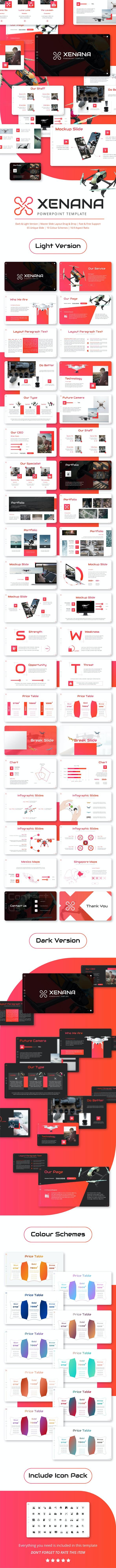 Xenana Presentation Template - PowerPoint Templates Presentation Templates