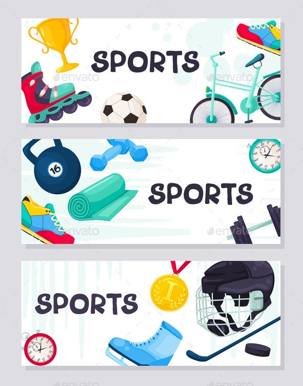 Sport Banner Vector - Sports/Activity Conceptual