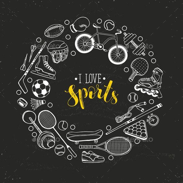 Sport Banner Vector - Sports/Activity Conceptual