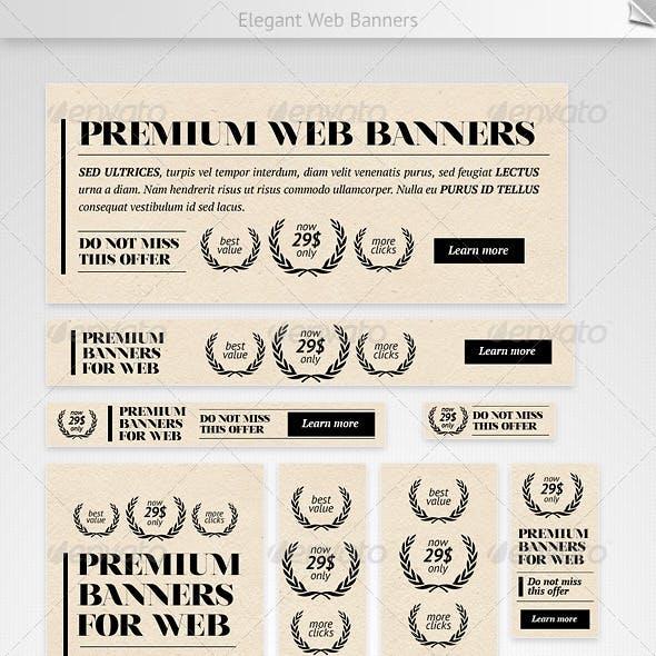 Elegant Web Banners