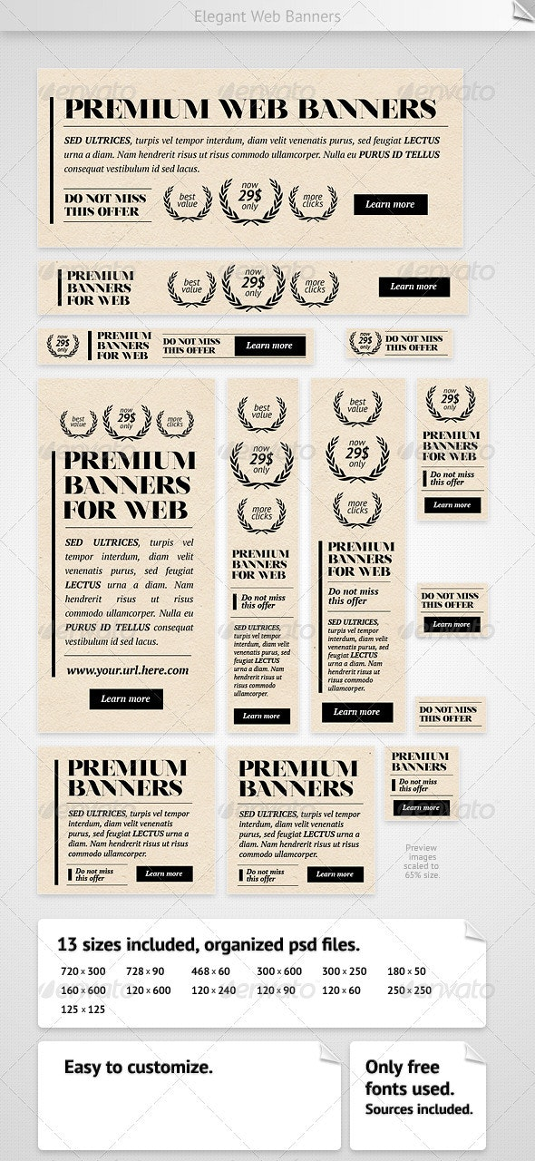Elegant Web Banners - Banners & Ads Web Elements