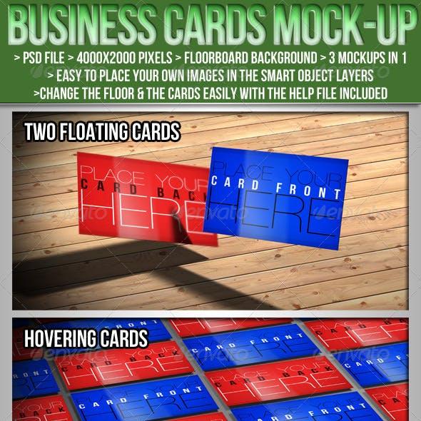 3in1 Business Card Mockup