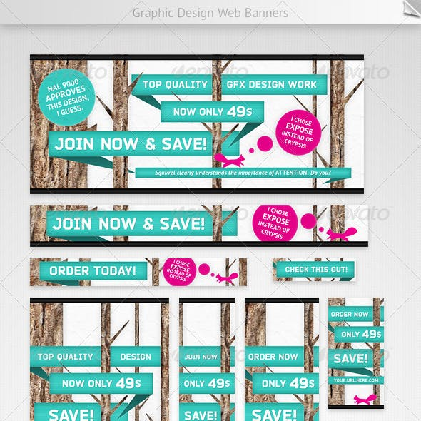 Graphic Design Web Banners