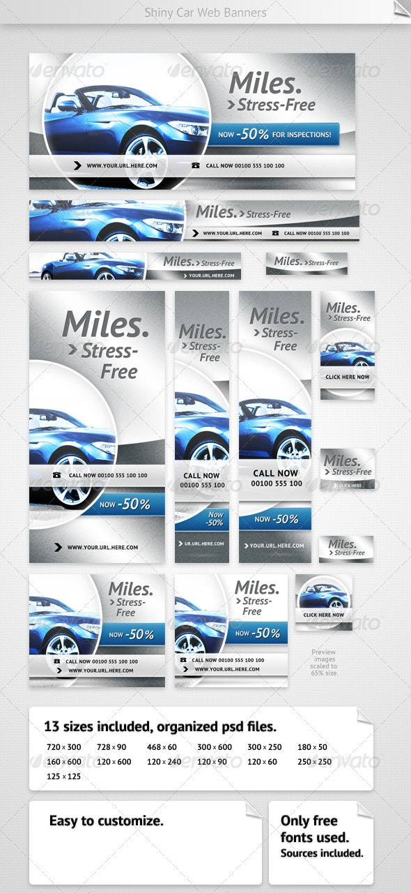 Shiny Car Web Banners