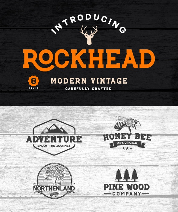 Rockhead Family font - Monospaced Serif