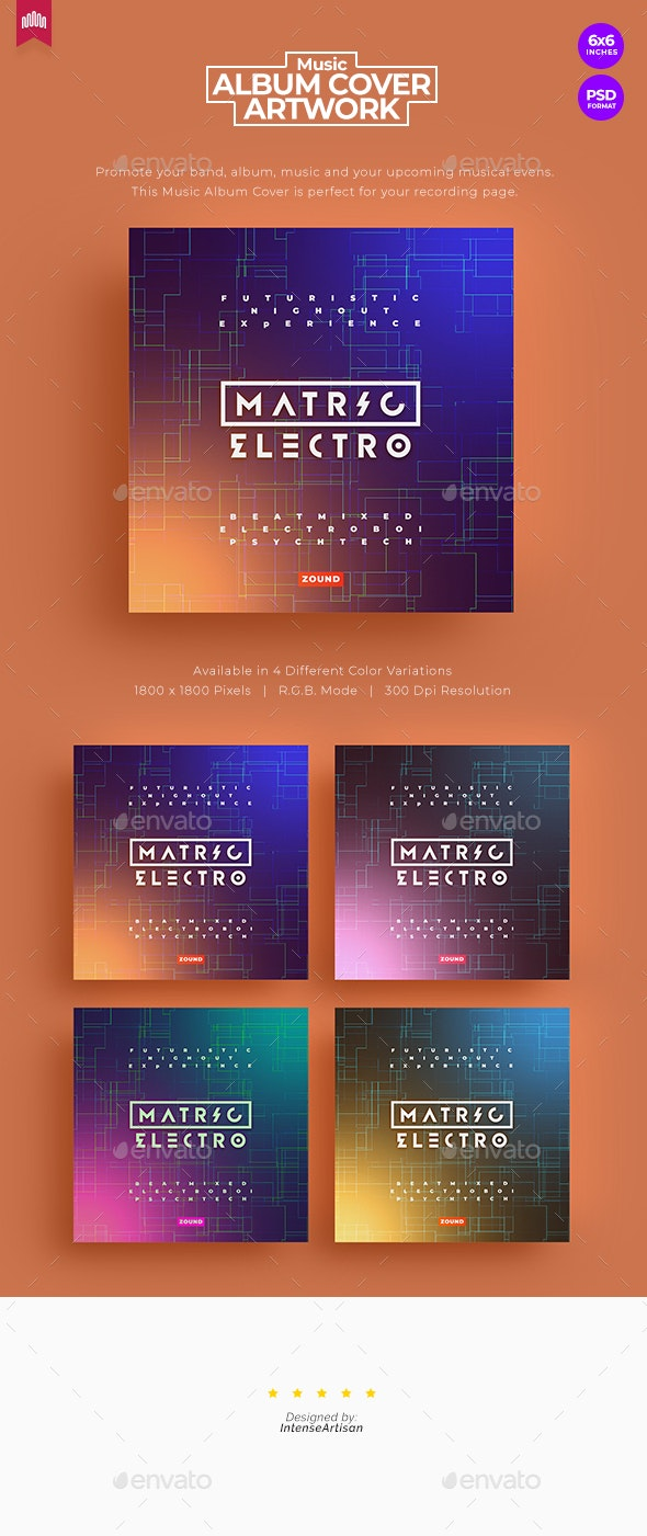 Matrix Electro - Music Album Cover Artwork - Miscellaneous Social Media