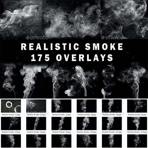 175 Realistic White Smoke Overlays