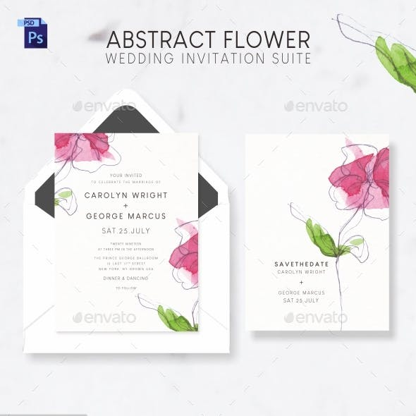 Abstract Flower Wedding Suite