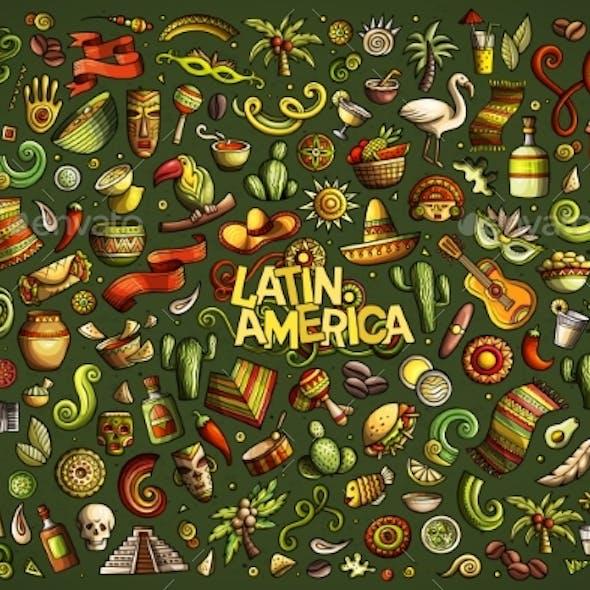 Sketchy Vector Hand Drawn Doodle Latin American