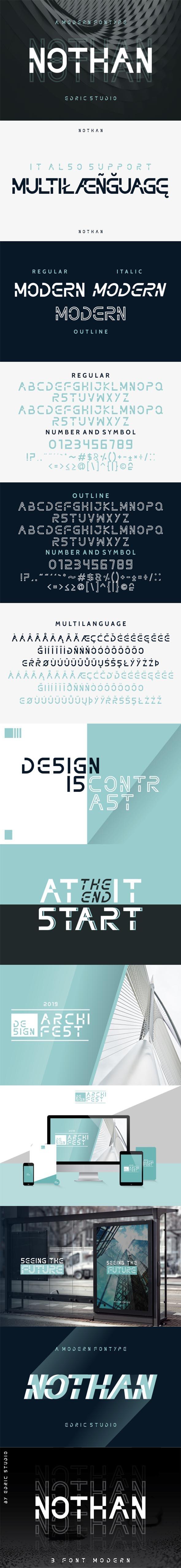 Nothan Futuristic Font - Futuristic Decorative