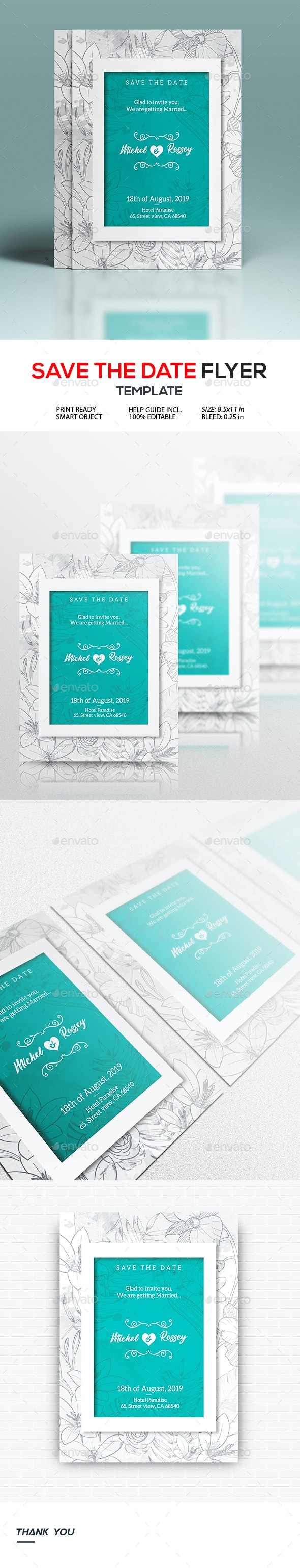 Wedding Invitation and Save The Date Flyer - Invitations Cards & Invites