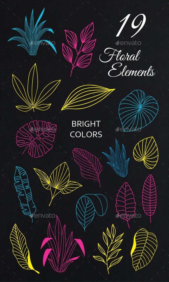 Floral Vector Collection - Flourishes / Swirls Decorative