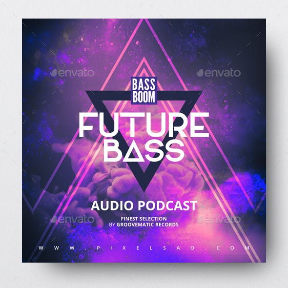 Future Bass - Electronic Music Album Cover Template