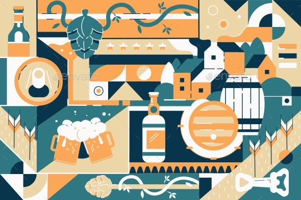 Brewery Background - Food Objects