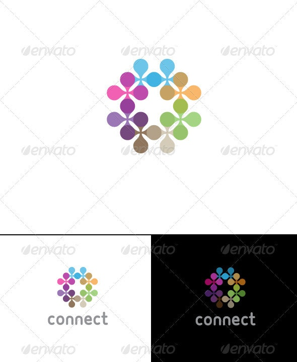 Connect Logo Template - Vector Abstract